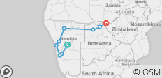 Namibia to Victoria Falls Explorer - 9 destinations