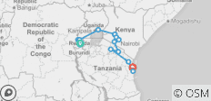 Gorillas to Zanzibar - 14 destinations