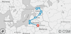 Cycle the Baltics - 21 destinations