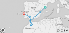 Iberian Coast (from Barcelona to Lisbon) - 10 destinations
