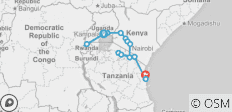 East Africa Overland - 14 destinations