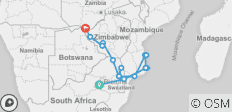 Mozambique and Zimbabwe Explorer Northbound - 17 destinations
