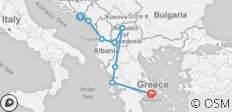 Dubrovnik to Athens - 8 destinations