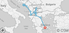 Dubrovnik to Athens - 11 destinations