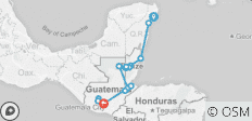 Playa Del Carmen To Antigua - 15 destinations