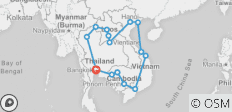 South East Asia Loop - 16 destinations