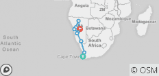 Cape Desert Safari Northbound (from Cape Town to Windhoek) - 9 destinations