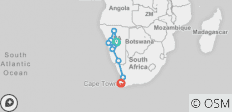 Cape Desert Safari Southbound - 9 destinations