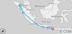 Indonesia on a Shoestring – Sumatra & Java to Kuta - 15 destinations