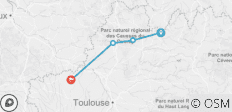 The Way of St James - Conques to Cahors - 4 destinations