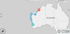 Perth to Broome Overland - 9 destinations