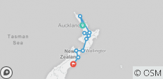 New Zealand North Island Explorer Southbound - 10 destinations