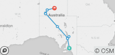 Adelaide to Alice Springs Overland (7 Days) (from Adelaide to Alice Springs) - 9 destinations