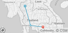 2 Countries - Thailand & Cambodia - 3 destinations