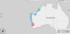 Broome nach Perth Overland (Basix) - 10 Destinationen