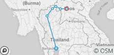 Bangkok to Laos - 9 days - 8 destinations