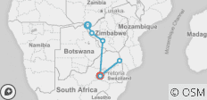 Zimbabwe & Kruger Explorer - 6 destinations