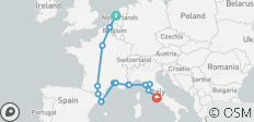Amsterdam to Rome - 11 days - 14 destinations
