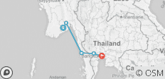 South East Asia between Yangon and Bangkok - 5 destinations