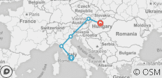 Rome to Budapest on a Shoestring - 5 destinations