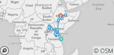 Africa East & South between Addis Ababa and Zanzibar with Gorillas (Zanzibar to Addis Ababa) - 38 destinations