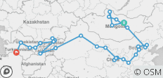 Central Silk Route & Mongolia (Ulaanbaatar to Ashgabat) - 45 destinations