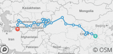 Western China & Central Silk Route (Xi\'an to Ashgabat) - 27 destinations