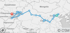 Mountains of Asia & Northern China (Beijing to Tashkent) - 27 destinations