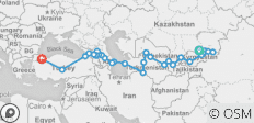 Silk Route of Central Asia (Bishkek to Istanbul) - 30 destinations