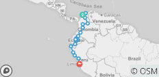 Andes, Coffee & Caribbean (Cartagena to Lima) - 20 destinations