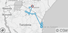 Africa East & South between Nairobi and Zanzibar (Zanzibar to Nairobi - 2018) - 13 destinations