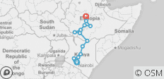 Ethiopian & Kenyan Rift Valley & Wildlife (Nairobi to Addis Ababa) - 14 destinations