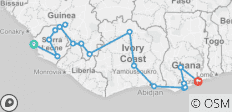 Rhythms & Realms of West Africa (Freetown to Accra) - 17 destinations