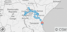 Africa East & South between Nairobi and Zanzibar with Gorillas (Nairobi to Zanzibar) - 26 destinations
