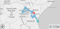 Gorillas, Wildlife & Zanzibar (Zanzibar to Nairobi) - 23 destinations