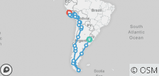 Incas, Patagonia & the Bocca (Lima to Buenos Aires) - 40 destinations