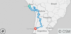 The Inca Empire, Gauchos & Altiplano (Lima to Santiago) - 29 destinations
