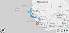 West African Atlantic Explorer (Dakar to Freetown) - 10 destinations
