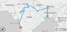 Kolkata to Goa by Rail - 14 destinations