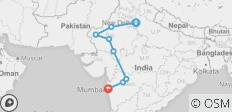 India Circuit between Delhi and Mumbai - 8 destinations