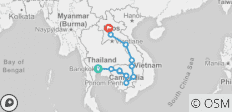 South East Asia Overland (Bangkok to Luang Prabang) - 14 destinations