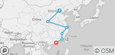 Beijing to Hong Kong–Fujian Route - 7 destinations
