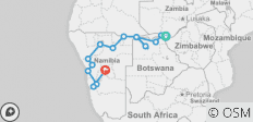 Family Overland between Windhoek and Victoria Falls - 15 destinations