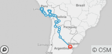 Andes & Amazon between Lima and Buenos Aires - 29 destinations
