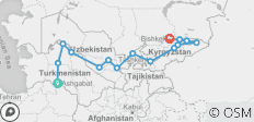 Central Silk Route (Ashgabat to Bishkek) - 15 destinations