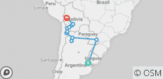 Lagarto Ways (from Buenos Aires) - 12 destinations