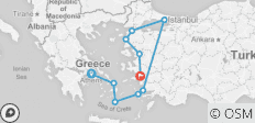 Athens to Gallipoli - 10 destinations