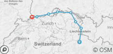 Alpine Rhine to Basel - 8 destinations