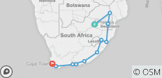South Africa Rainbow Route   - 11 destinations