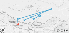 10 days Tour from Lhasa to Everest Base Camp and drive to Kathmandu via Kerung - 6 destinations